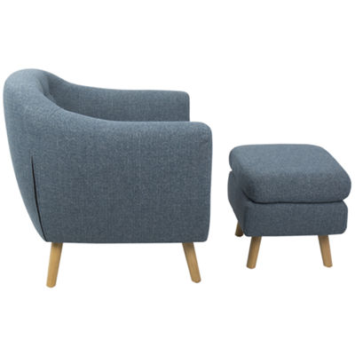 Rockwell 2-pc. Tufted Chair and Ottoman Set