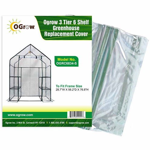 3 Tier 6 Shelf Greenhouse Replacement Cover