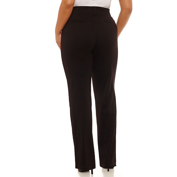Alyx Straight Fit Ponte Pull-On Pants - Plus