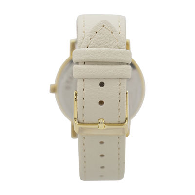 Geneva Platinum Womens White Bracelet Watch-10086