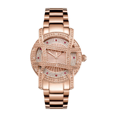 JBW 10 Yr Anniversary Olympia 1/5 C.T. T.W. Genuine Diamond Womens Diamond Accent Rose Goldtone Bracelet Watch-Jb-6214-10a