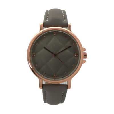 Olivia Pratt Womens Gray Strap Watch-D60034grey