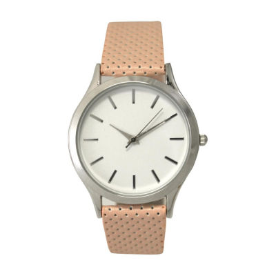 Olivia Pratt Womens Gold Tone Strap Watch-A916346pink