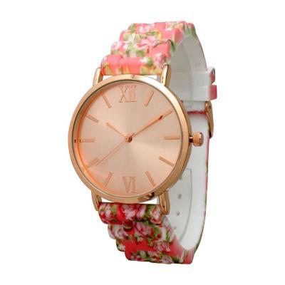 Olivia Pratt Womens Pink Strap Watch-513976coral