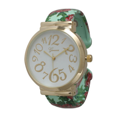 Olivia Pratt Womens Green Strap Watch-513752mint