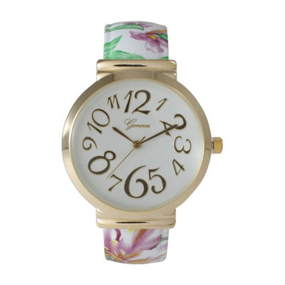 Olivia Pratt Womens White Strap Watch-513752whitepurple