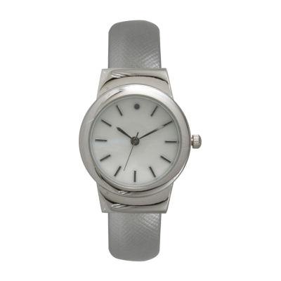 Olivia Pratt Womens Silver Tone Strap Watch-26861silver