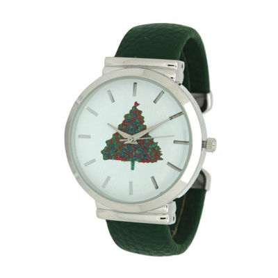 Olivia Pratt Womens Green Strap Watch-A917479green
