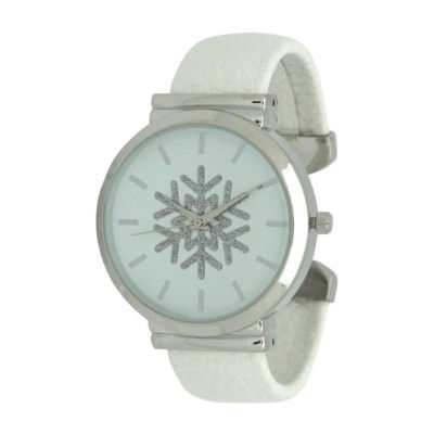 Olivia Pratt Womens White Strap Watch-A917479white