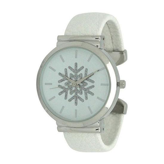 Olivia Pratt Womens White Strap Watch-A917479white