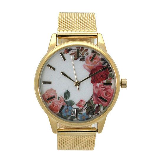 Olivia Pratt Womens Gold Tone Bracelet Watch-A917645gold