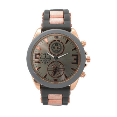 Olivia Pratt Womens Multicolor Strap Watch-D60050greyrose
