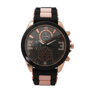 Olivia Pratt Womens Black Strap Watch-D60050black