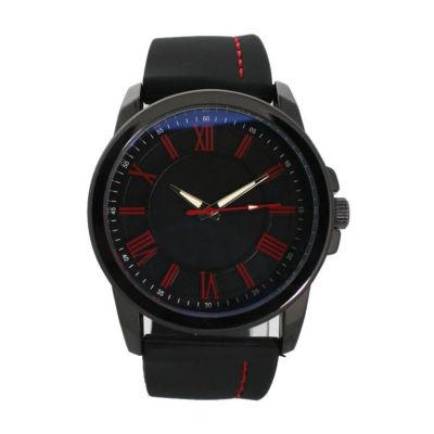 Olivia Pratt Womens Black Strap Watch-D26800black