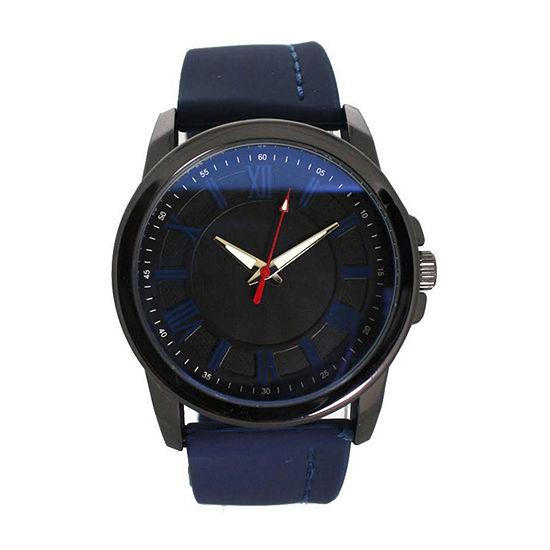 Olivia Pratt Womens Blue Strap Watch-D26800navy