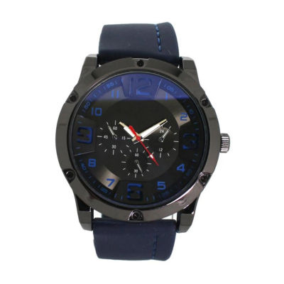 Olivia Pratt Womens Blue Strap Watch-D26813navy