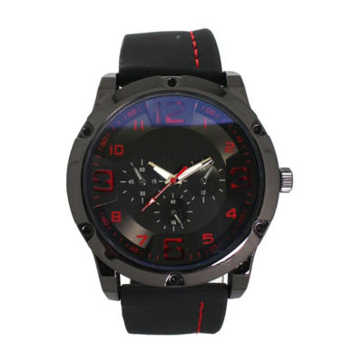 Olivia Pratt Womens Black Strap Watch-D26813blackred