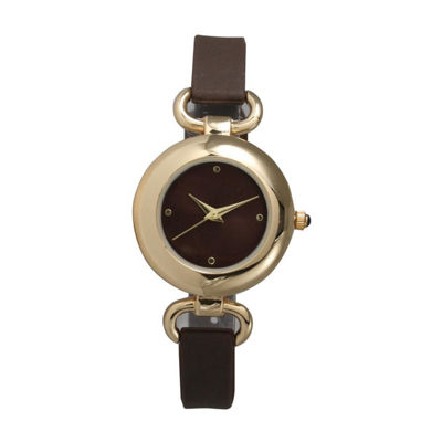 Olivia Pratt Womens Brown Strap Watch-40055brown