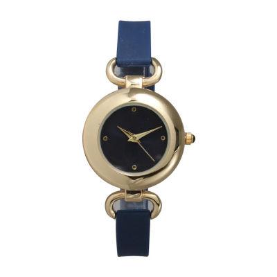 Olivia Pratt Womens Blue Strap Watch-40055navy