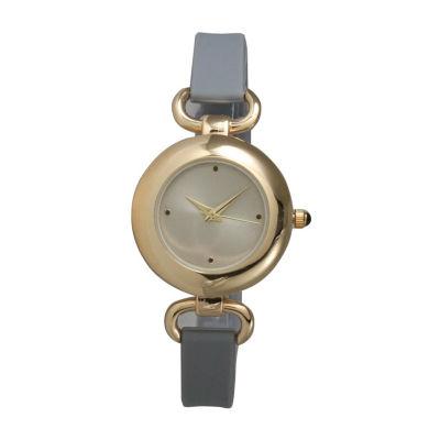Olivia Pratt Womens Gray Strap Watch-40055grey