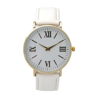 Olivia Pratt Womens White Strap Watch-515309white
