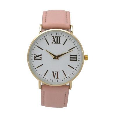 Olivia Pratt Womens Pink Strap Watch-515309lightpink