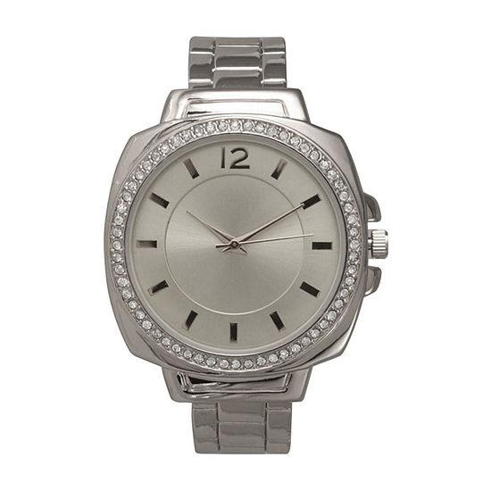 Olivia Pratt Womens Silver Tone Bracelet Watch-A915771silver