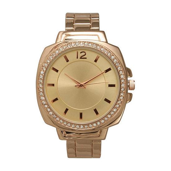 Olivia Pratt Womens Rose Goldtone Bracelet Watch - A915771rosegold
