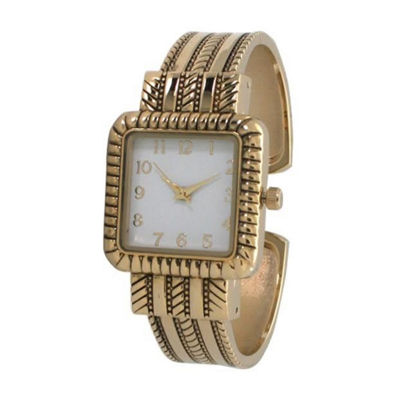 Olivia Pratt Womens Gold Tone Bracelet Watch-A916977gold