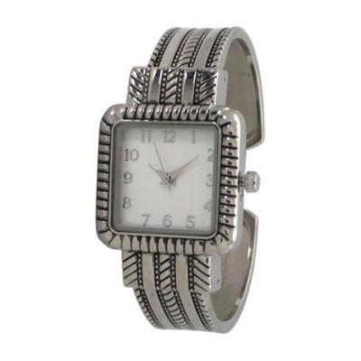 Olivia Pratt Womens Silver Tone Bracelet Watch-A916977silver