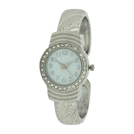 Olivia Pratt Womens Silver Tone Bracelet Watch-A917620silver