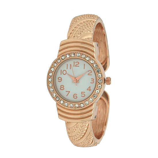 Olivia Pratt Womens Rose Goldtone Bracelet Watch-A917620rosegold