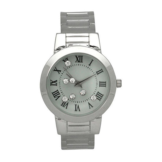 Olivia Pratt Womens Silver Tone Bracelet Watch - 515221silver