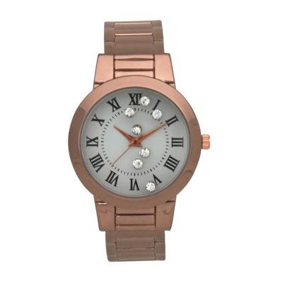 Olivia Pratt Womens Rose Goldtone Bracelet Watch-515221rosegold