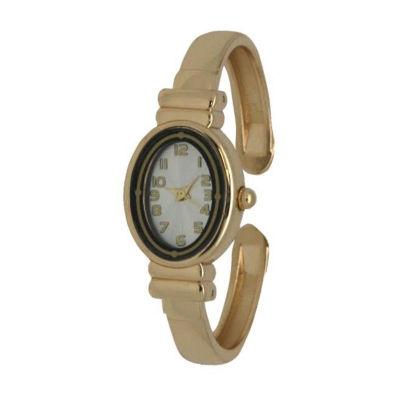 Olivia Pratt Womens Gold Tone Bracelet Watch-17296bgold