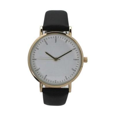 Olivia Pratt Womens Black Strap Watch-A917913black