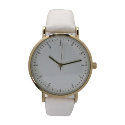 Olivia Pratt Womens White Strap Watch-A917913white