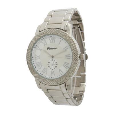 Olivia Pratt Womens Silver Tone Bracelet Watch-12997silver