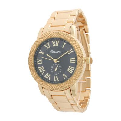 Olivia Pratt Womens Gold Tone Bracelet Watch-12997goldnavy