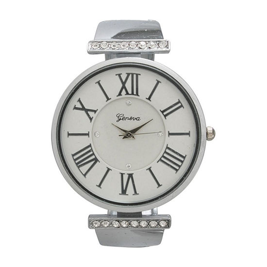 Olivia Pratt Womens Silver Tone Bracelet Watch-20419silver