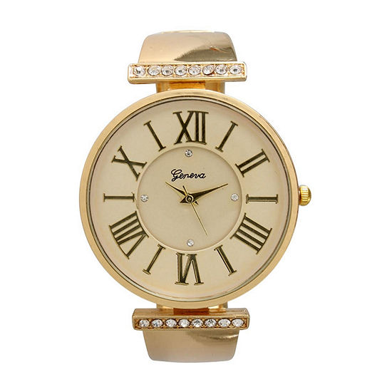Olivia Pratt Womens Gold Tone Bracelet Watch-20419gold