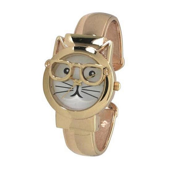 Olivia Pratt Womens Gold Tone Bracelet Watch-H10065gold