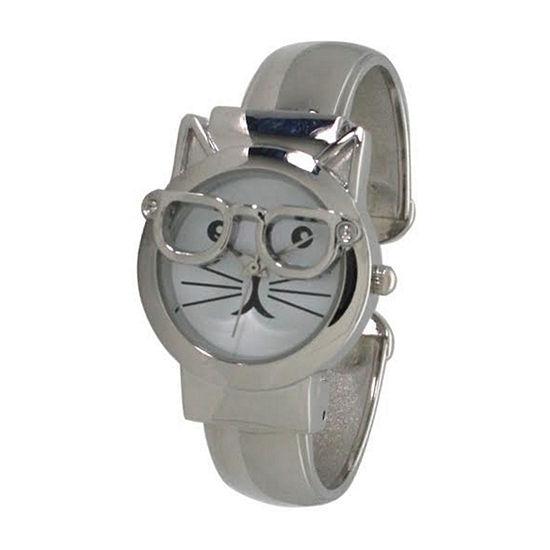 Olivia Pratt Womens Silver Tone Bracelet Watch-H10065silver