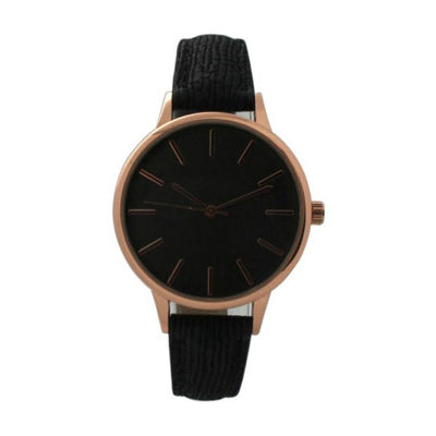 Olivia Pratt Womens Black Strap Watch-D60037black