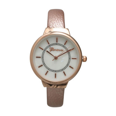 Olivia Pratt Womens Rose Goldtone Strap Watch-513990rosegold