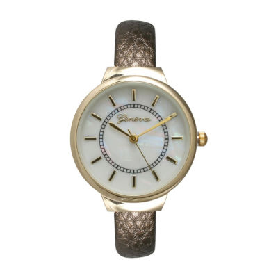 Olivia Pratt Womens Brown Strap Watch-513990bronze