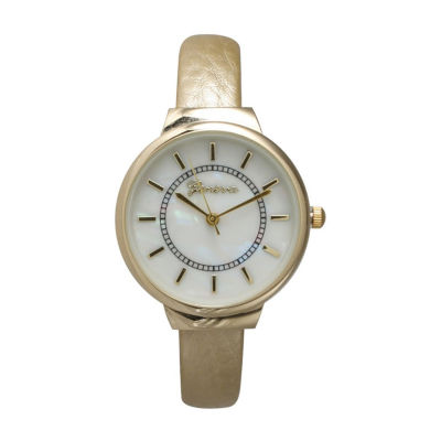 Olivia Pratt Womens Gold Tone Strap Watch-513990gold