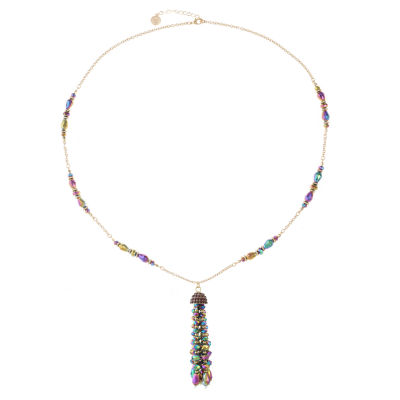 Liz Claiborne Womens Purple Pendant Necklace
