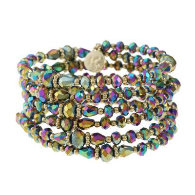 Liz Claiborne Gold Tone Beaded Bracelet