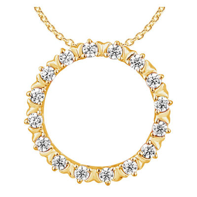 Womens 1/4 CT. T.W. Genuine Diamond 10K Gold Pendant